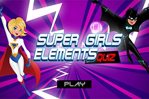 super girls elements quiz mobile and tablet games play123